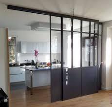 porte coulissante separation cuisine la verrière dans la cuisine 19 idées photos cloison vitre