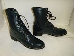 used womens boots size 9 justin j lace up roper boots size 9 b used