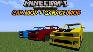 minecraft working car 0 8 1 minecraft pocket edition moving car mod and working garage