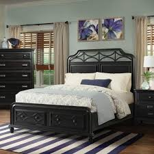 elements international mystic bay coastal queen bed with footboard