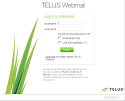 telus webmail help getting started with telus webmail