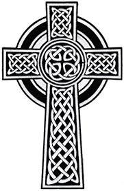 amazon com celtic cross large iron on patch white embroidered