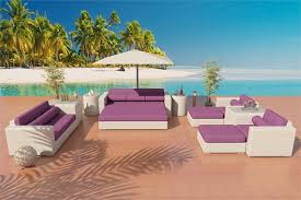 Resort Style Patio Furniture Outdoor Wicker Patio Furniture Mikeilah Sofa Daybed Sectional Set