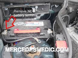 mercedes c class change how to replace the starter by diy with pictures mb medic