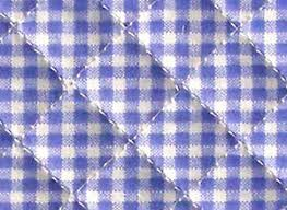 blue gingham ready quilted fabric checked cotton pre quilted