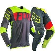 fox honda motocross gear fox racing new 2016 mx flexair libra dirt bike grey yellow