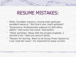 Resume Mistakes A Guide To Resume Writing Ppt Download