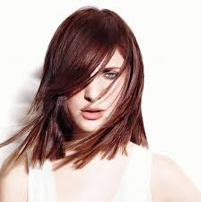 medium length hairstyles for heart shaped face red mahogany brown hair dye for straight hairstyles with shoulder