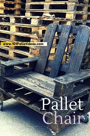 Patio Furniture Using Pallets - diy black stained pallet chair