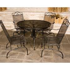 Wrought Iron Patio Table And Chairs Napa Wrought Iron Patio Set By Meadowcraft