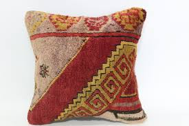1915 home decor 16x16 vintage handwoven carpet pillow 16x16 anatolian rug pillow