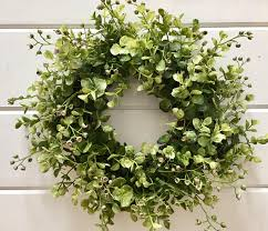 eucalyptus wreath farmhouse style faux greenery wreath eucalyptus wreath