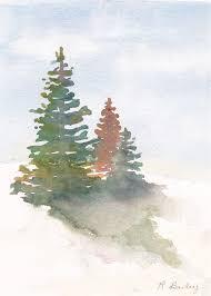 evergreen trees u2013 ruth bailey artist