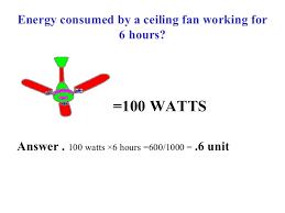 how much energy does a ceiling fan use consumption of household equipments in india