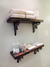 Bed Bath And Beyond Bathroom Shelves by Shelf Shocked Wood Stain Lobbies And Shelves
