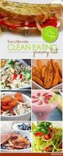 free printable clean eating grocery list survey clean eating