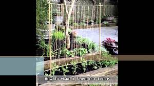 how to make a simple pea trellis youtube