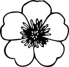 black and white flower clipart clipartxtras