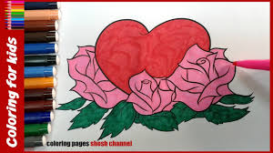 heart coloring pages from coloring pages shosh channel youtube