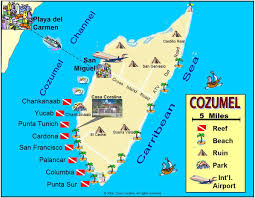 Map Of Western Mexico by Best Cozumel Beach Clubs On West Side Of Island And Our