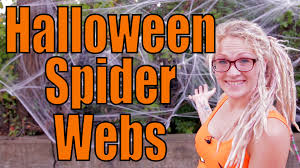 how to put up halloween spider web decorations youtube