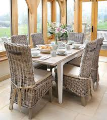 Rattan Dining Chairs Indoor Rattan Dining Sets Rattan Dining - Wooden dining table with wicker chairs