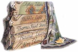 home decor throw blankets nautical lighthouse decor throws