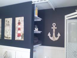 Wall Decor Bathroom Ideas Stunning Nautical Bathroom Wall Decor Blue Nautical Bathroom Image