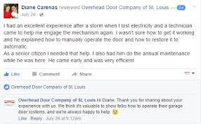 Overhead Door Company St Louis Customer Testimonials Overhead Door Company Of St Louis