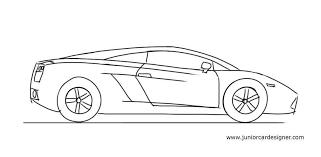 lamborghini car drawing how to draw a lamborghini gallardo junior car designer