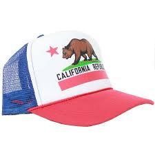 American Flag Snapback Hat Usa California Republic Clothes