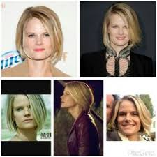 joelle carter hairstyle this highlighted bob is blow waved to