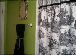 Blue Toile Curtains Black And White Toile Shower Curtains Curtain Gallery Images