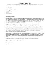 rn cover letter cover letter for rn writing a nursing cover letter 15 sle write