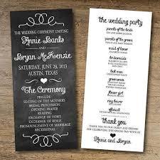 wedding program exles stunning simple wedding ceremony program gallery styles ideas
