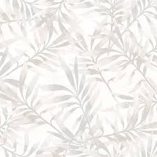 tropical leaf branch floral wallpaper grey and white walls republic