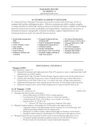 Infrastructure Project Manager Resume The by Cover Letter Sample Resume Program Manager Sample Resume Project