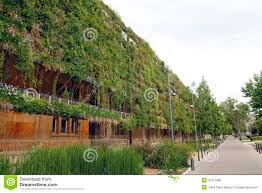 green wall in an ecological building stock photo image 41071886