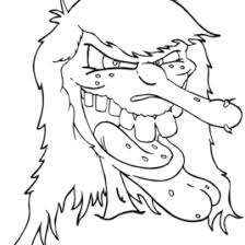 scary witch coloring page archives mente beta most complete