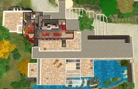 Water View House Plans Mod The Sims Frank Lloyd Wright U0027s