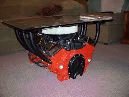 man cave coffee table challenge man cave coffee table 350 chevy motor a must for your
