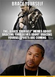 Xzibit Meme - bace yourself the brace yourself memes about bracing yourselves