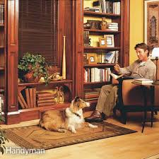 Free Built In Bookcase Woodworking Plans by Building Bookshelves The Family Handyman