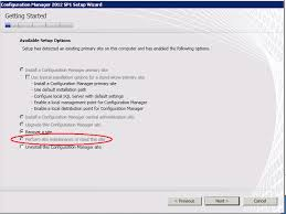 site unavailable sccm 2012 perform site maintenance or reset this site greyed out