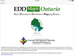 edd maps eddmaps ontario on the app store