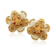 gold stud earrings senco gold 22k yellow gold stud earrings