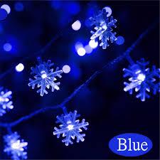 outdoor hanging snowflake lights mayitr 20 led snowflakes string light ornament outdoor lights