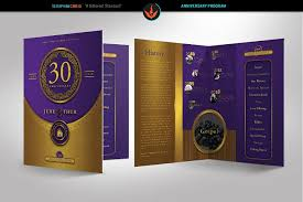 gold and violet church anniversary program template from