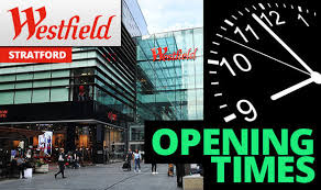 westfield stratford opening times 2017 what is it open
