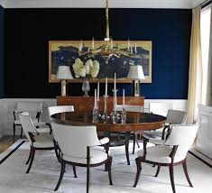 Navy Blue Dining Room Dining Room Design Photo By Sherrill Canet Interiors Album Plaza